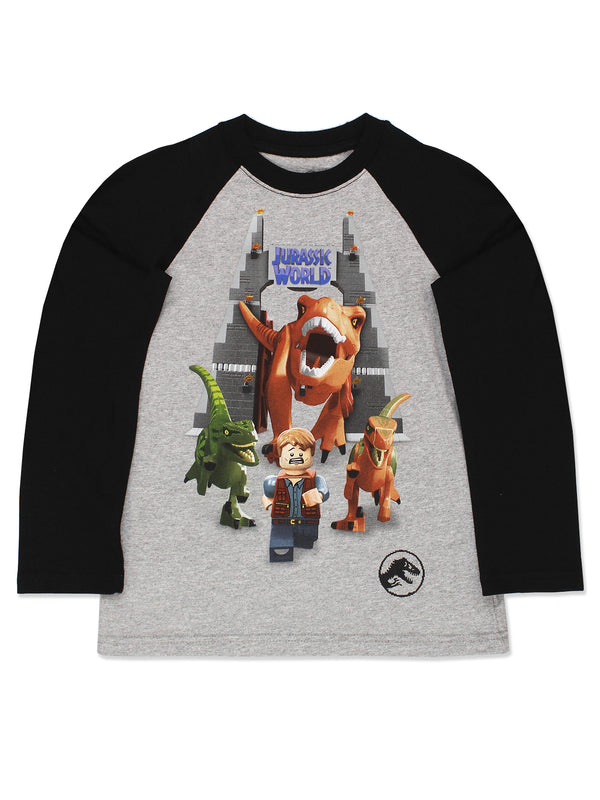 Lego Jurassic World Dinosaur Boys Long Sleeve T-Shirt Tee