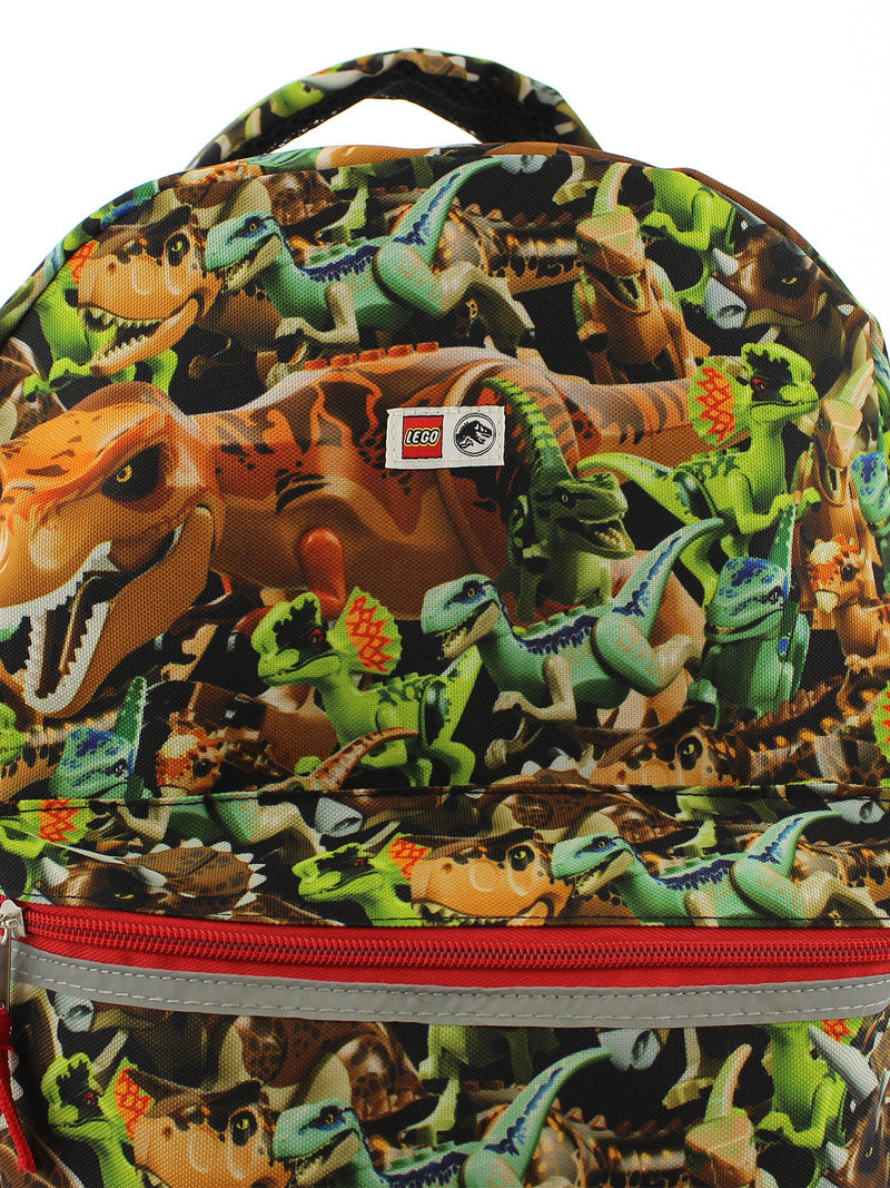 Lego Jurassic World Dinosaurs Boy's Adult's 16 Inch School Backpack