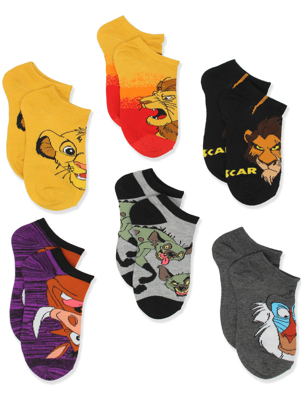 Disney The Lion King Boy's Girl's Teen Adult's 6 pack Socks Set