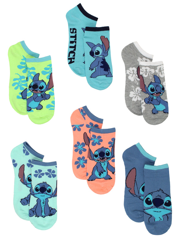 Lilo & Stitch Women's 6 pack Socks Set