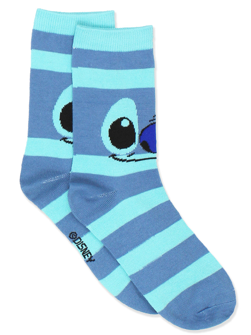 Lilo & Stitch Teen Adult Women's 3 pack Crew Socks Set