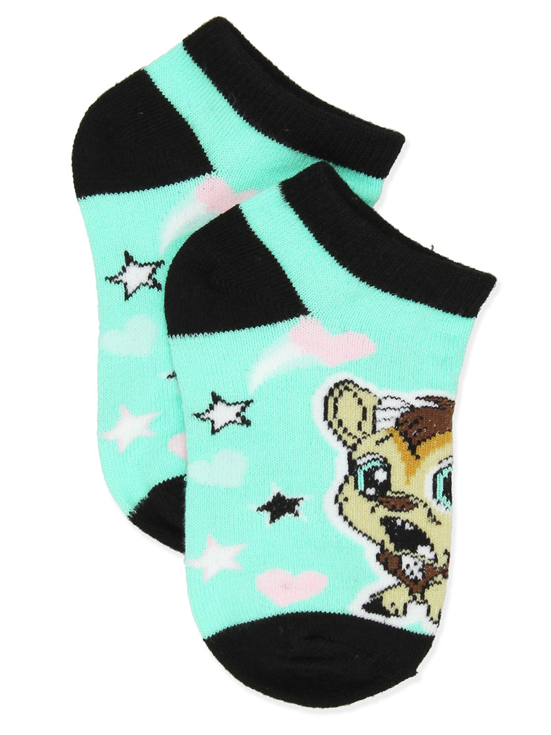 Littlest Pet Shop LPS Girl's Toddler No Show 6 Pack Socks Set