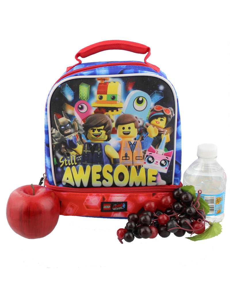 Lego Movie 2 The Second Part Boys Soft Dual Compartment School Lunch Box