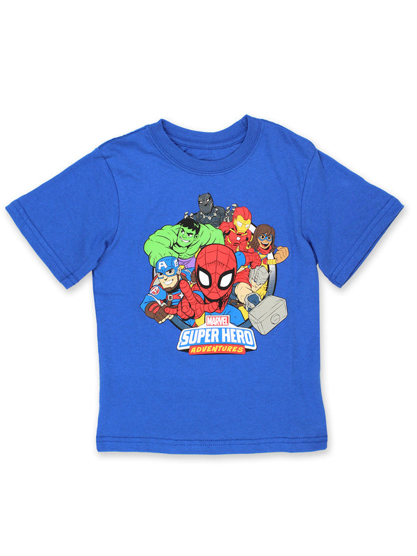 Marvel Super Hero Adventures Boys Toddler Short Sleeve T-Shirt Tee