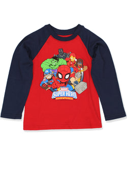 Marvel Super Hero Adventures Boys Toddler Long Sleeve T-Shirt Tee