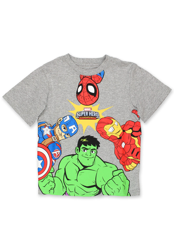 Marvel Super Hero Adventures Boys Short Sleeve T-Shirt Tee
