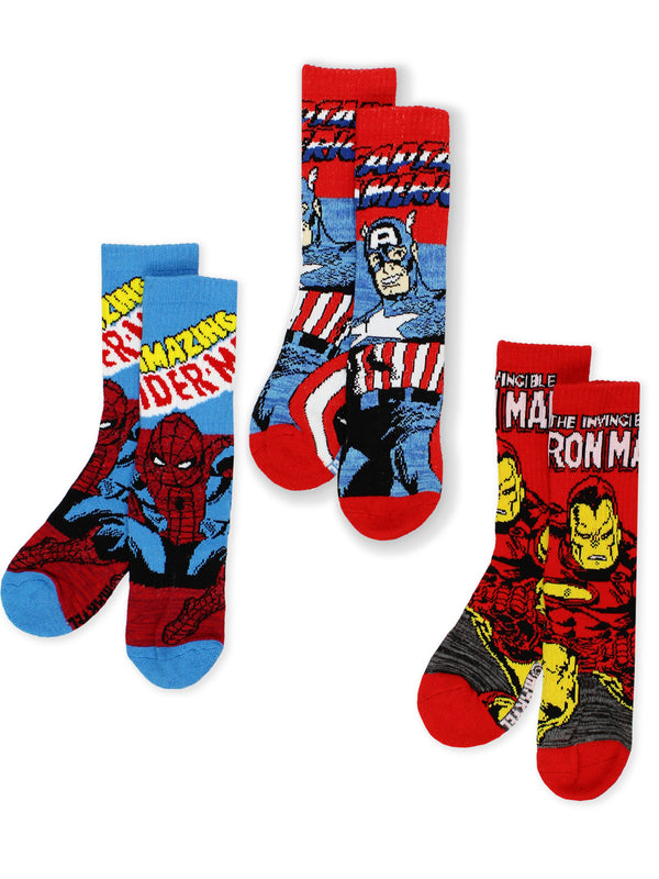 Marvel Avengers End Game Teen Boy's Men's Adult 3 pack Crew Socks Set