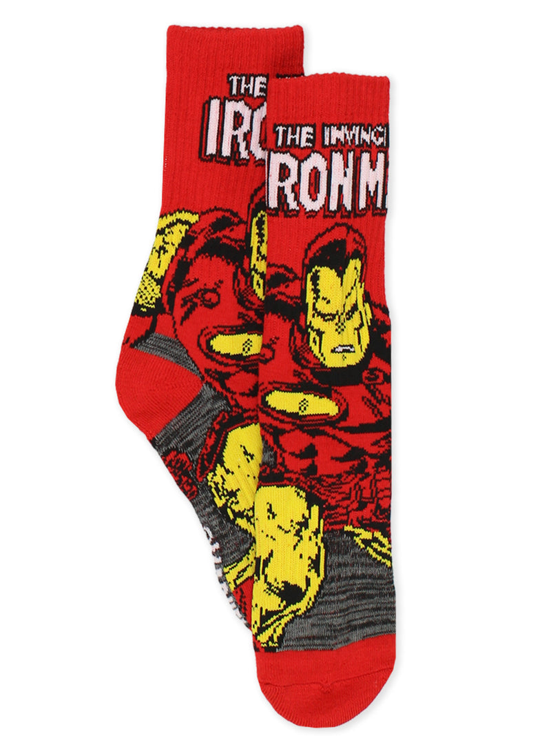 Marvel Avengers Spider-Man Iron Man Captain America Men's 3 pack Crew Socks Set