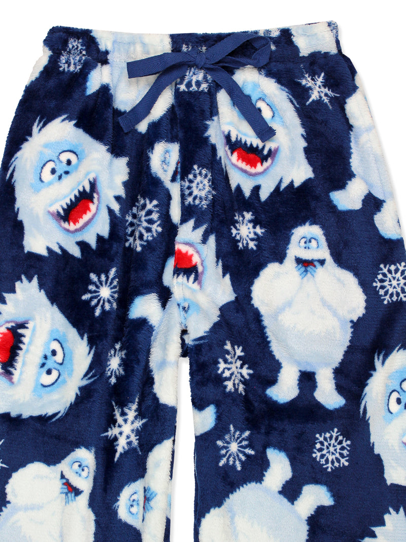 Rudolph the Red Nosed Reindeer Bumble  Mens Christmas Holiday Plush Minky Fleece Pajama Pants