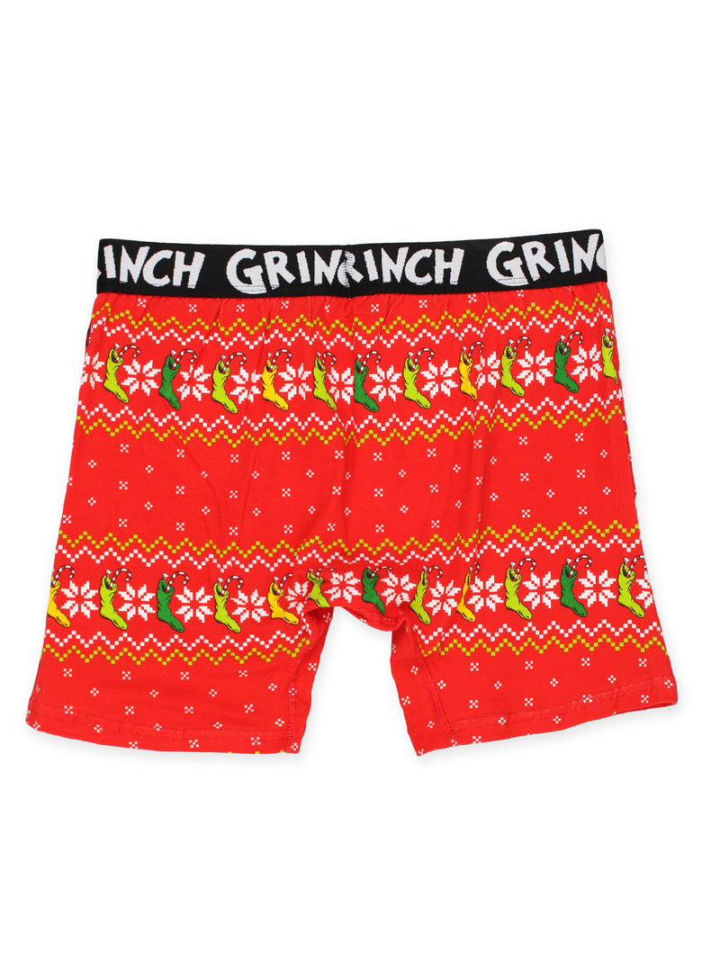 Seuss The Grinch Mens Christmas Holiday Boxer Brief Underwear Dr
