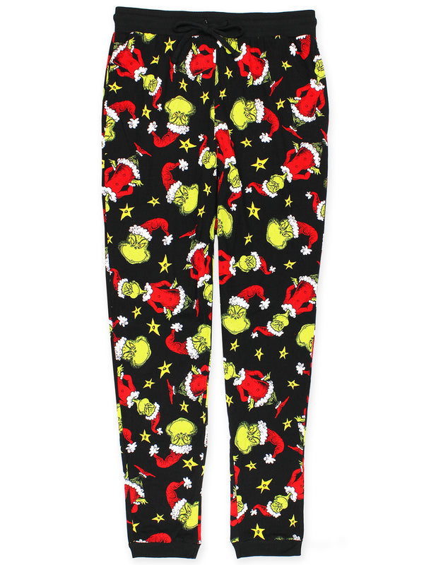 Dr. Seuss The Grinch Mens Holiday Jogger Lounge Pajama Pant