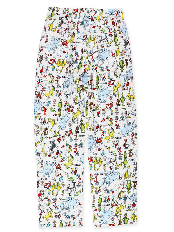 Dr. Seuss Grinch Cat in the Hat Green Eggs and Ham Men's Sleep Pants