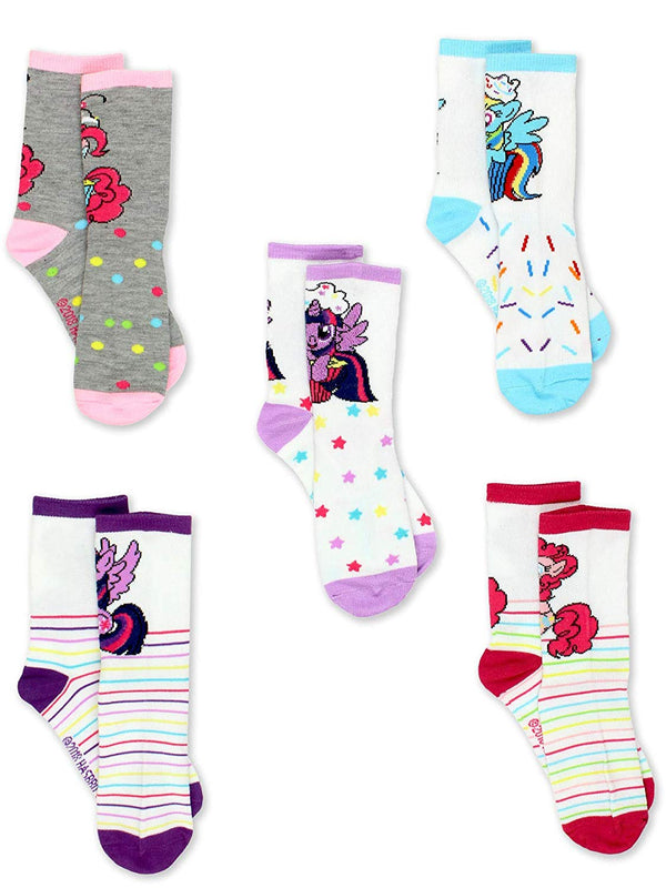 My Little Pony Girls 5 pack Crew Style Socks Set