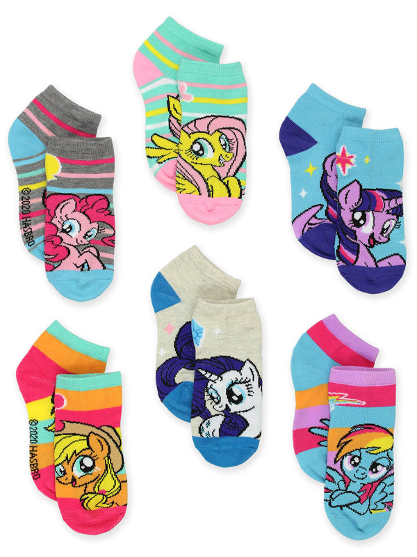 My Little Pony Toddler Girls 6 pack No Show Socks