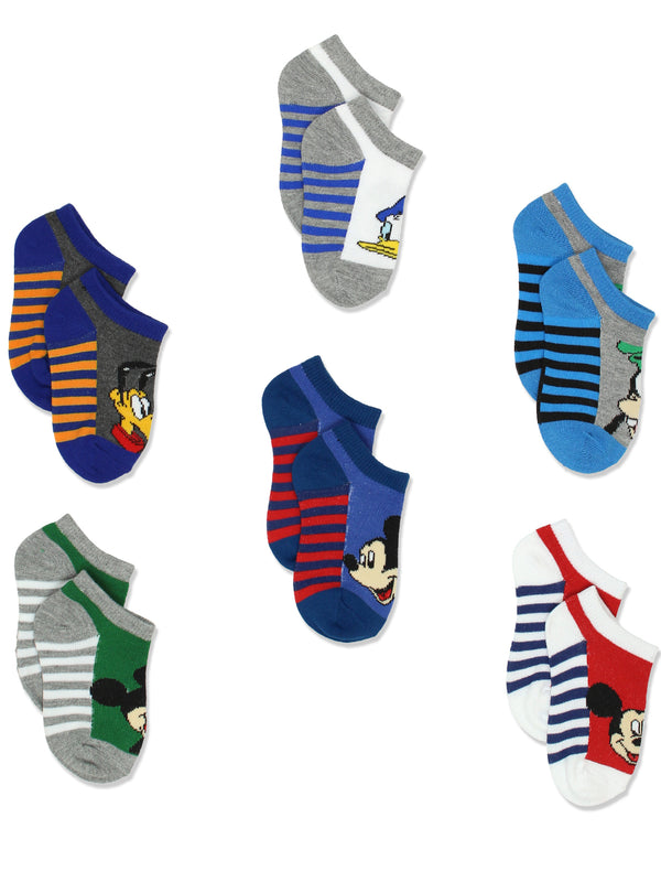 Mickey Mouse Toddler Boys 6 pack Socks Set