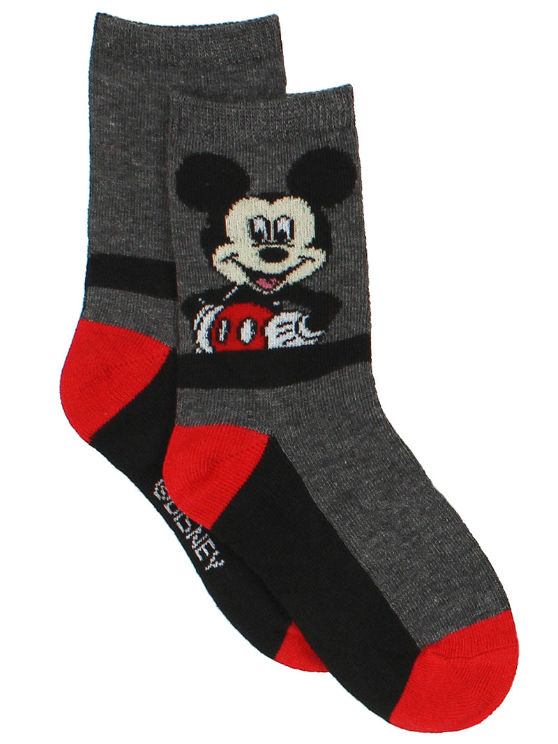 Mickey Mouse Toddler Boys 3 pack Crew Socks Set