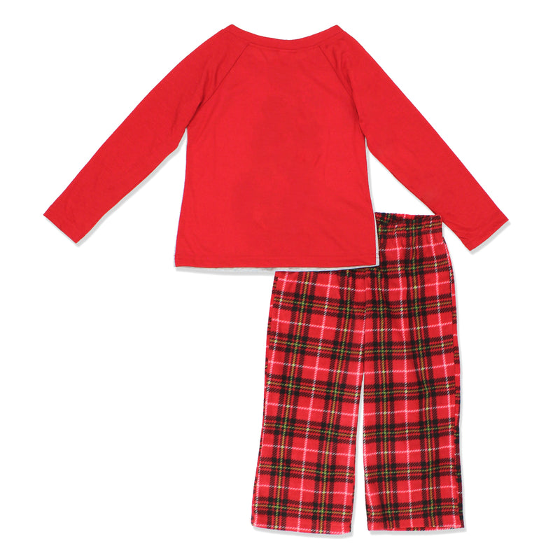 Minnie Mouse Christmas Holiday Toddler Girls Sleepwear Pajamas Set