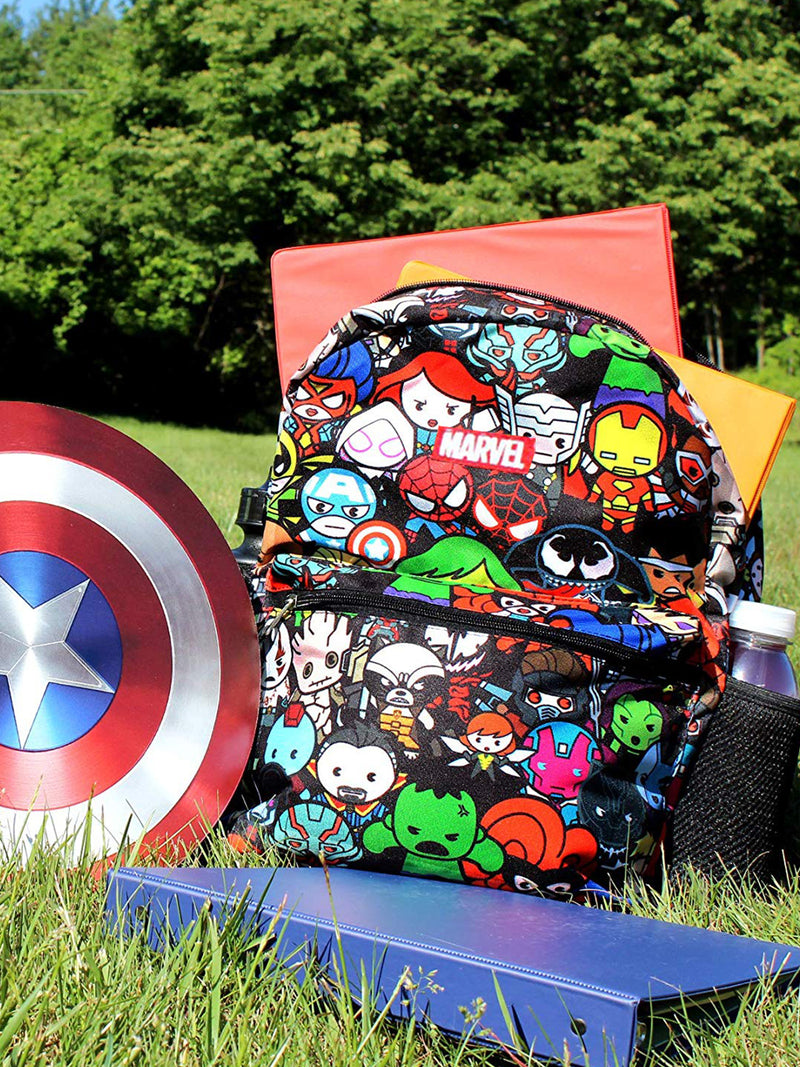 "Marvel Kawaii Avengers Boys Girls 16"" School Backpack"