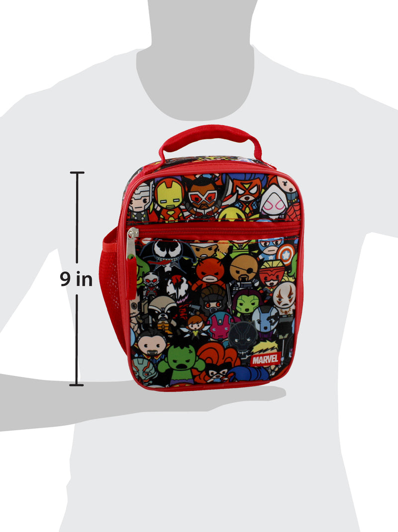 Marvel Kawaii Avengers Girls Boys Soft Insulated School Lunch Box