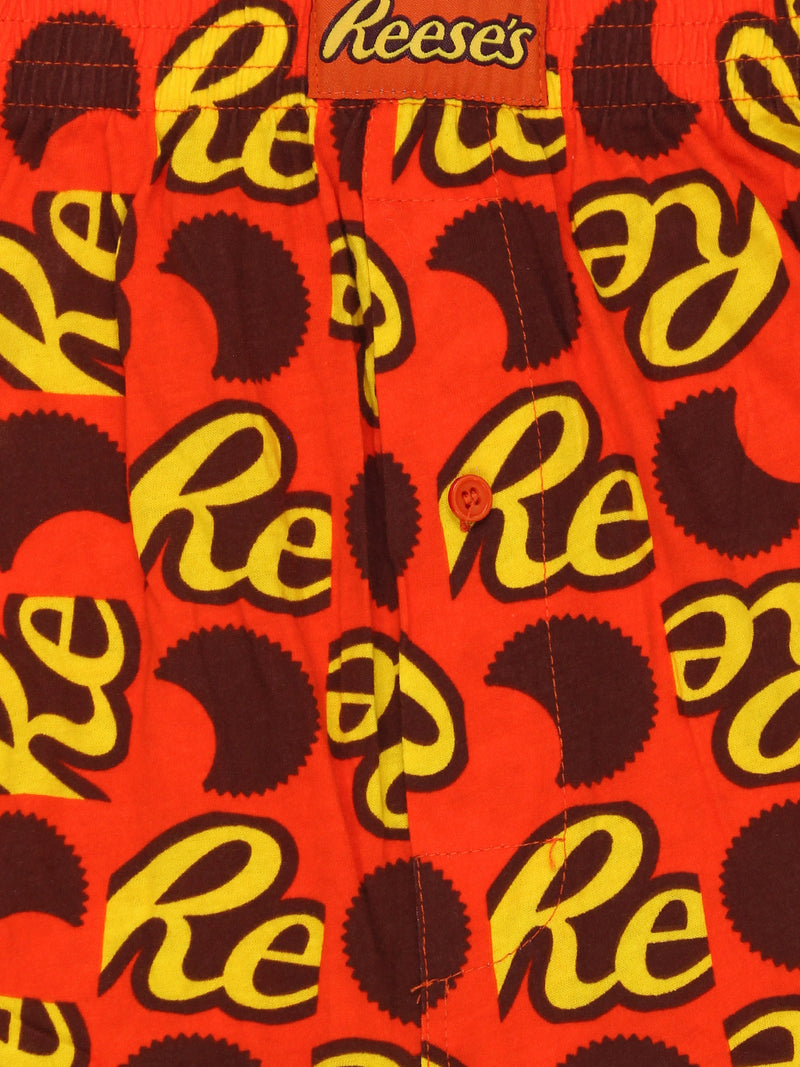 Hershey's Chocolate Bar Reese's Peanut Butter Cup Mens Boxer Lounge Shorts