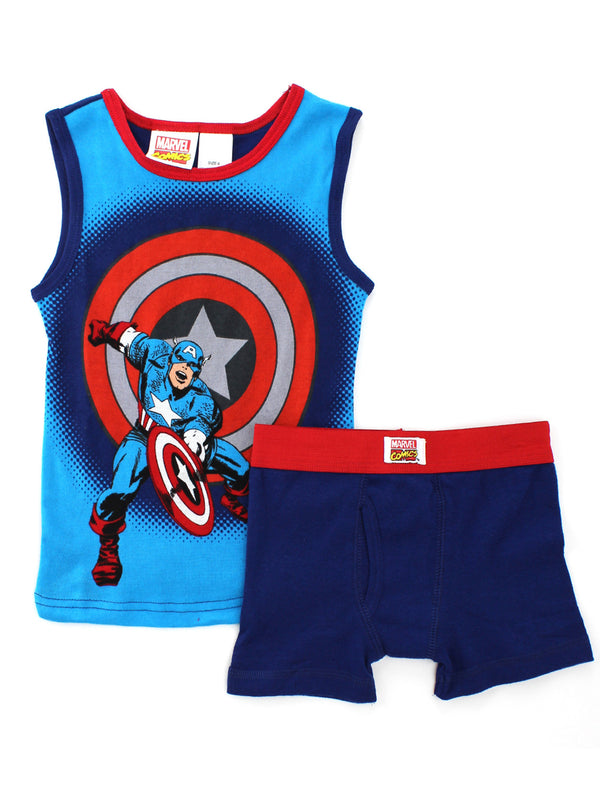 Captain America Boys Tank Top and Boxer Briefs