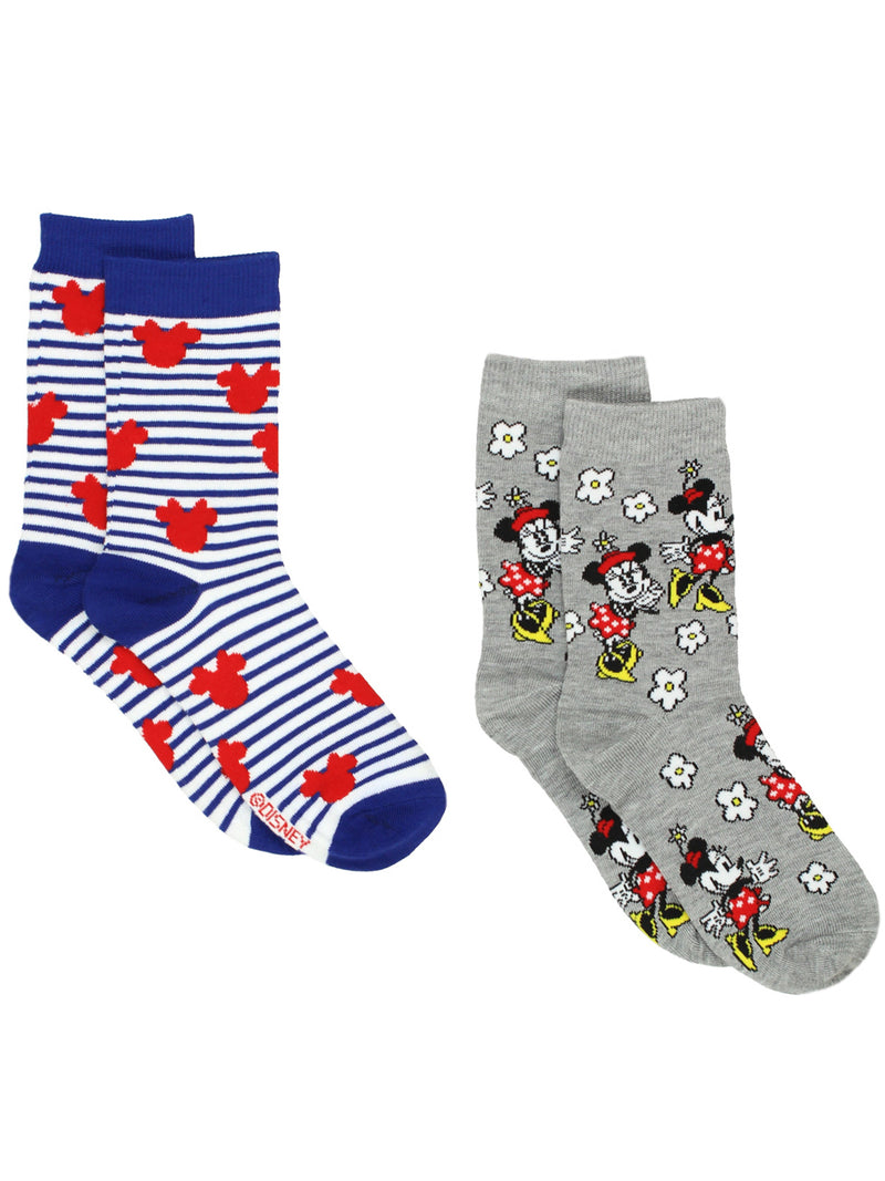 Minnie Mouse Women's 2 pack Crew Socks Set