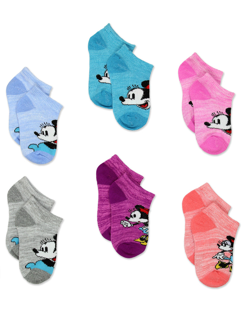 Minnie Mouse Classic Toddler Girls 6 Pack No Show Socks