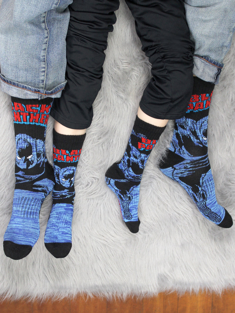 Marvel Avengers Black Panther Hulk Thor Boy's 3 pack Crew Socks Set