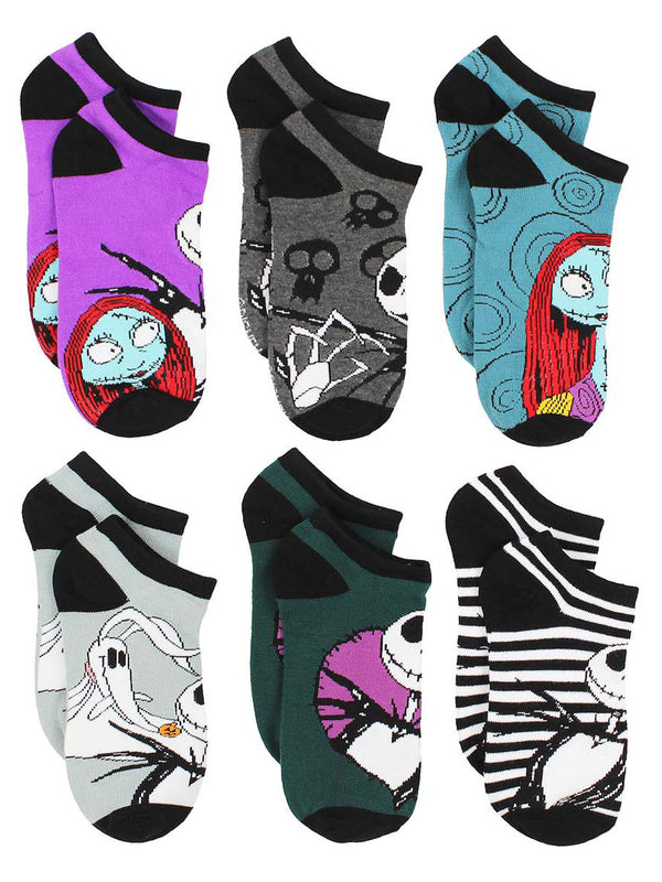 The Nightmare Before Christmas Women's 6 pack Socks Set