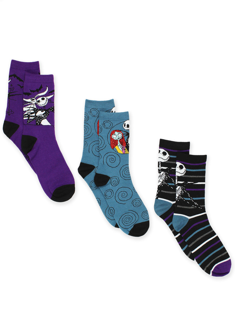 The Nightmare Before Christmas Womens 3 pack Crew Socks