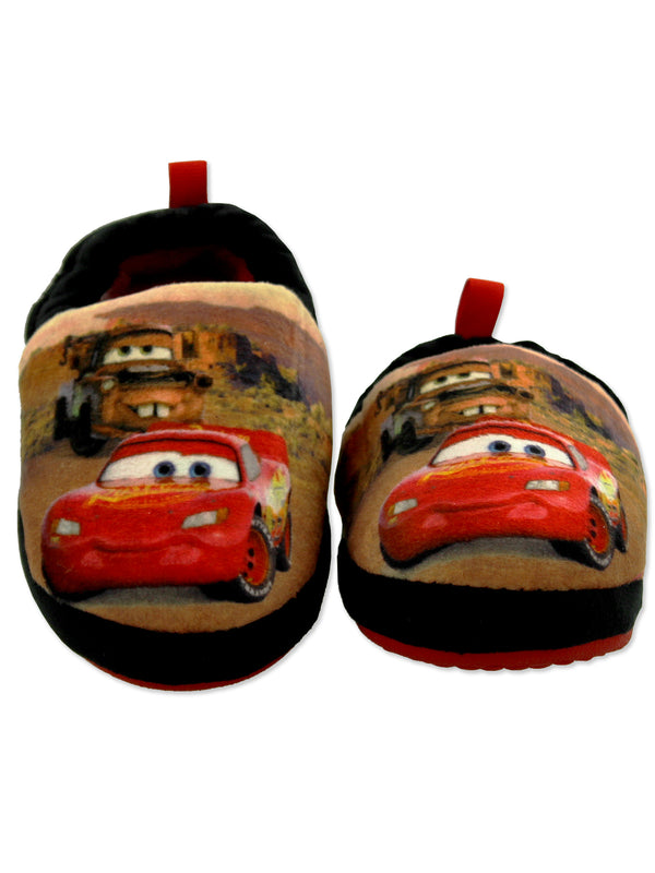 Disney Cars Lightning McQueen Tow Mater Toddler Boys Plush Aline Slippers