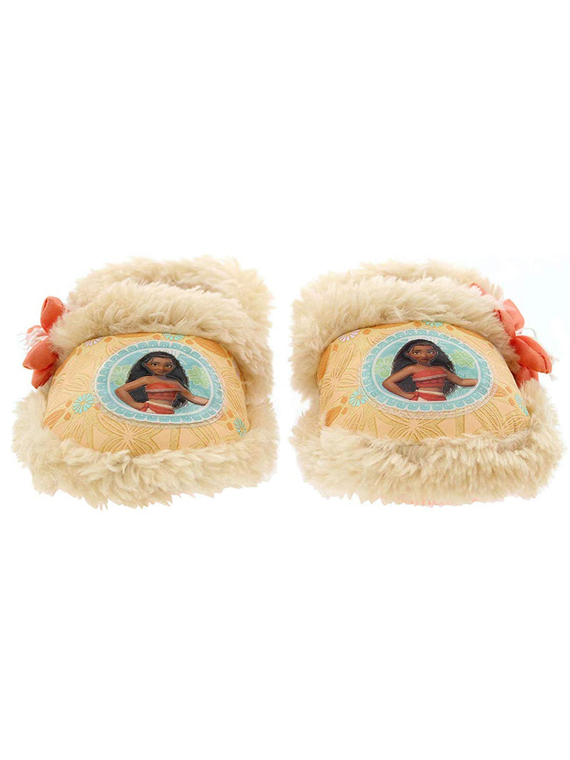 Disney Moana Toddler Girl's Plush A-Line Slippers with Faux Fur