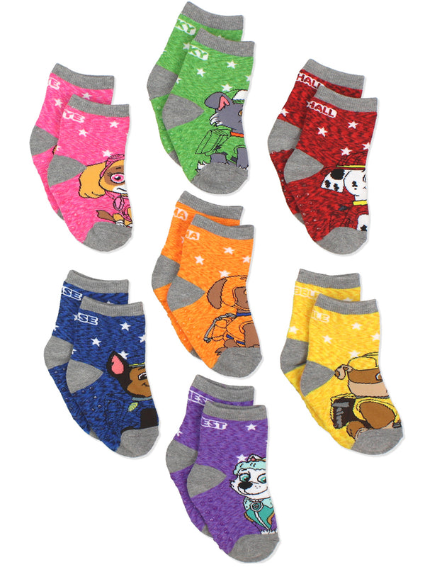 Paw Patrol Toddler Boys Girls 7 pack Socks with Grippers