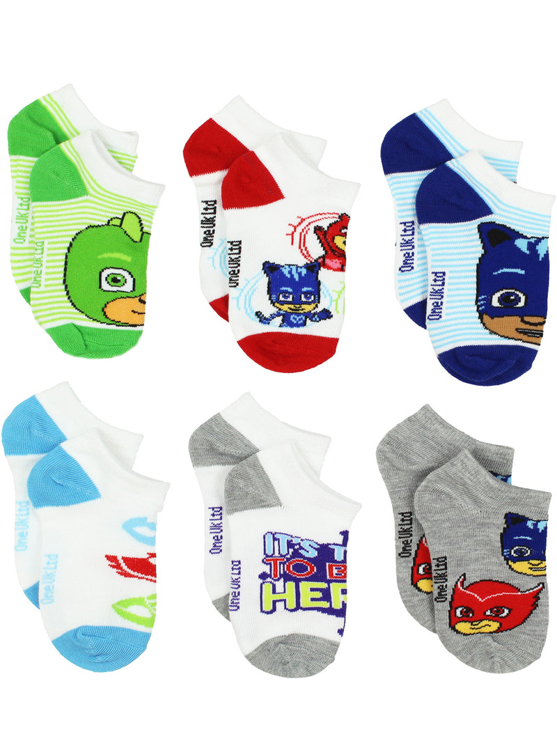 PJ Masks Toddler Boys Girls 6 pack Socks Set