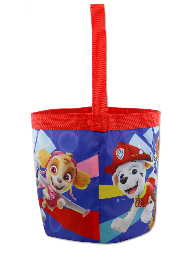 Paw Patrol Boys Girls Collapsible Nylon Halloween Bucket Toy Storage Tote Bag