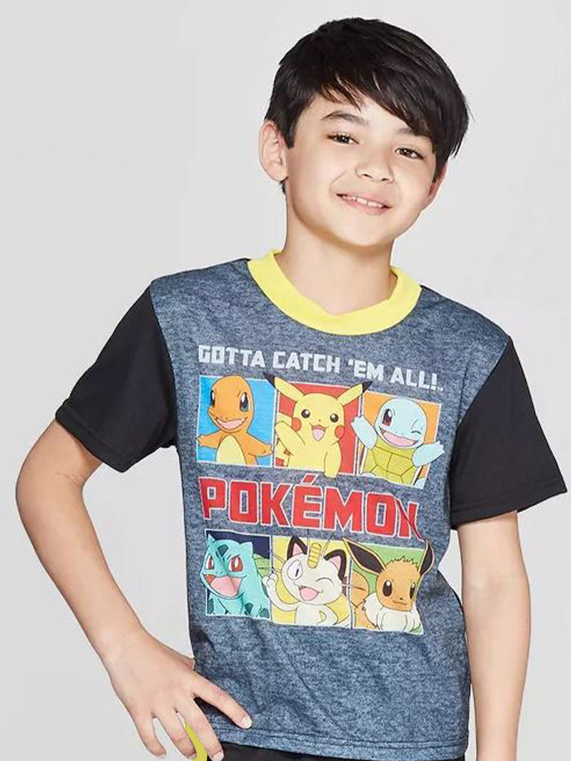 Pokemon Boys Short Sleeve 2-Piece Shorts Pajama Set