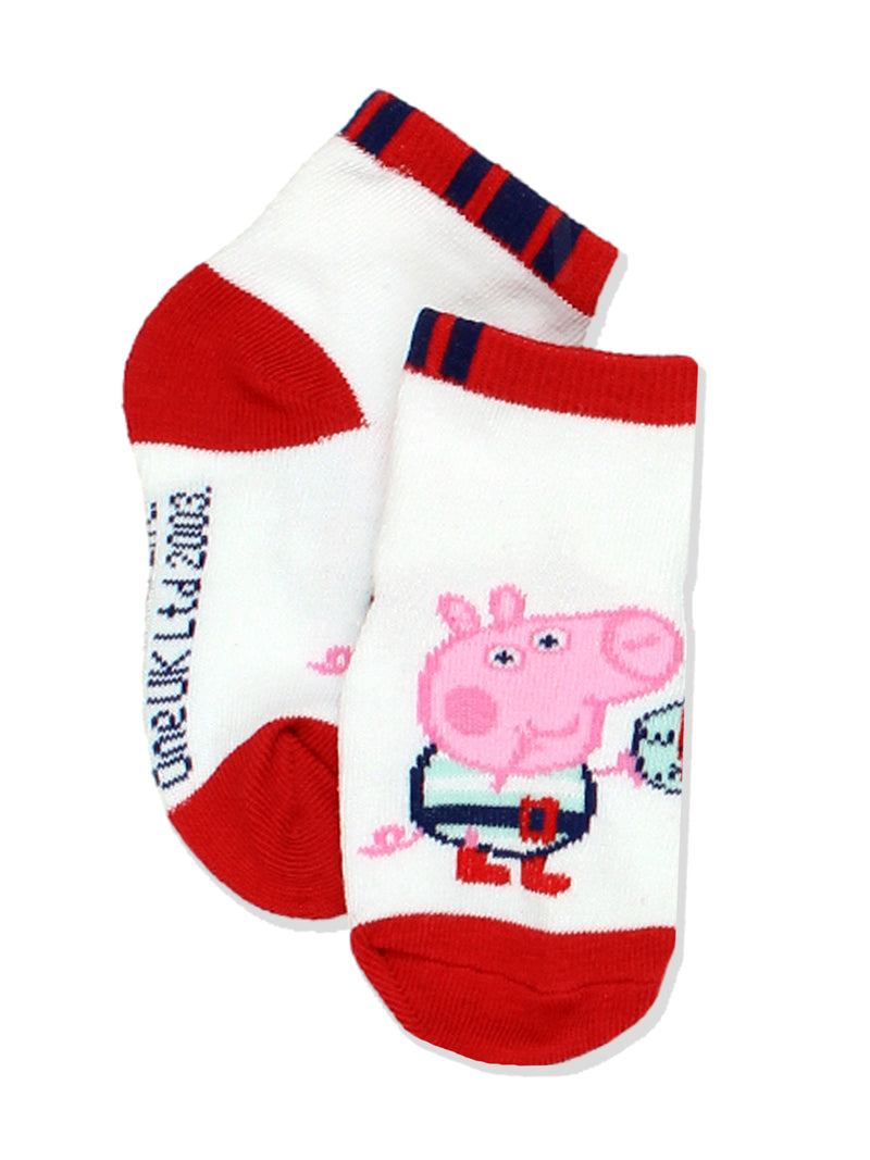 Peppa Pig George Toddler Boys 6 pack Socks Set