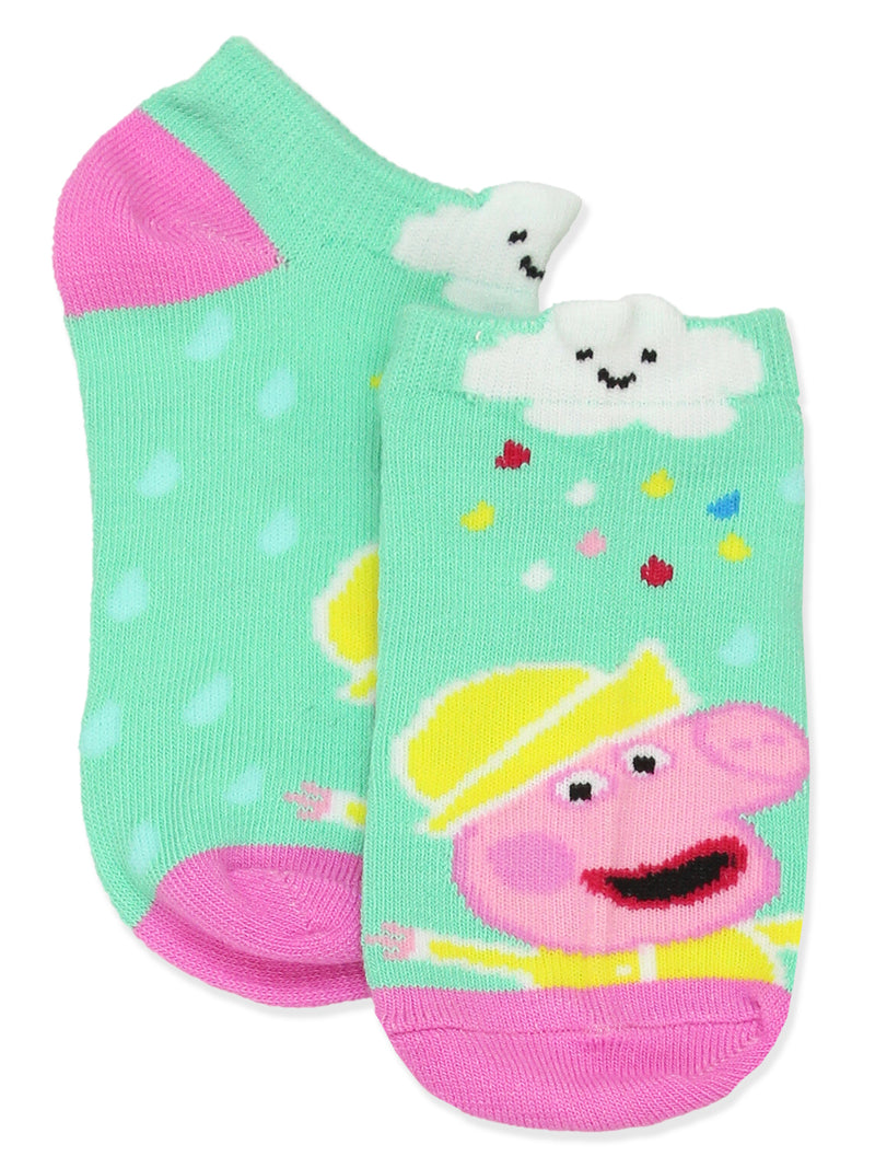 Peppa Pig Girls 6 Pack No Show Socks Set