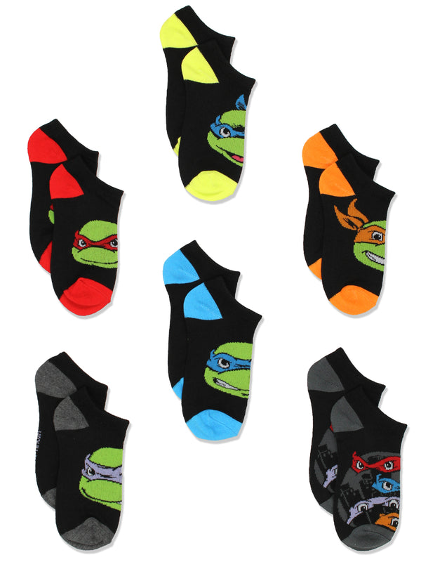 TMNT Teenage Mutant Ninja Turtles Boys 6 pack Socks Set