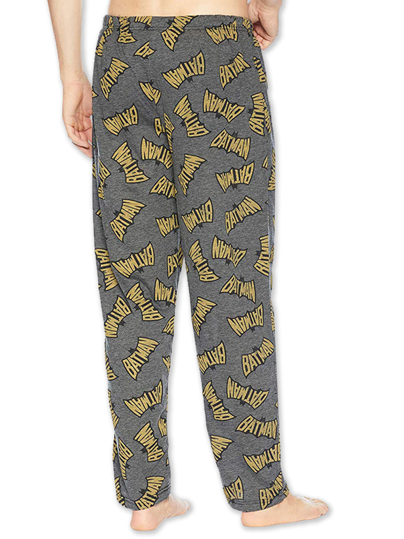 DC Comics Batman Vintage Logo Lightweight Polyester Men's Lounge Pajama Pants