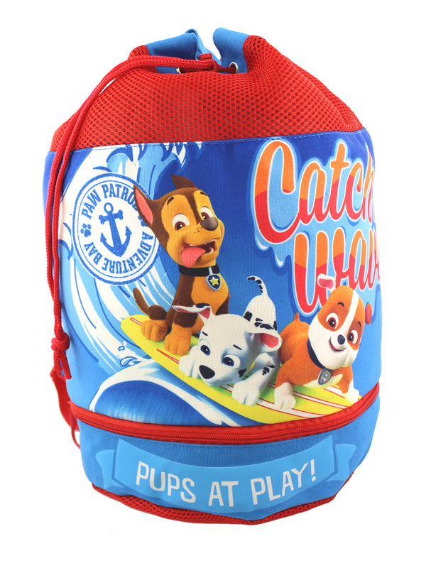 Paw Patrol Boy's Beach Drawstring Cinch Backpack Tote Bag