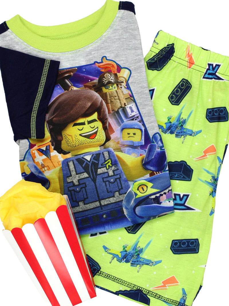 Lego Movie 2 The Second Part Boy's Toddler 2 piece Short Sleeve Tee Shorts Pajamas Set