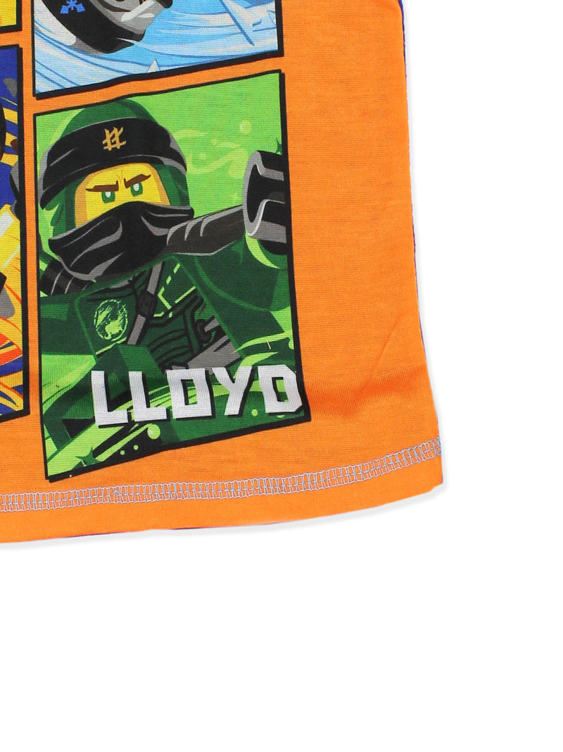 Lego Ninjago Boy's 2 piece Short Sleeve Shorts Pajamas Set