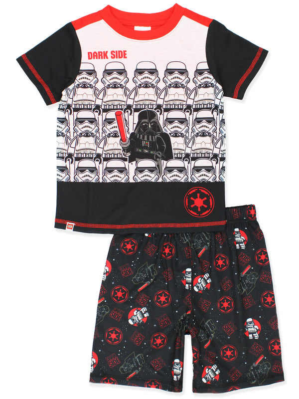 Lego Star Wars Boy's 2 piece Short Sleeve Shorts Pajamas Set