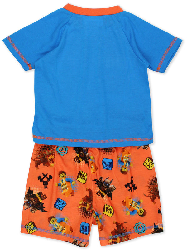 Lego Movie 2 The Second Part Boy's 2 piece Short Sleeve Tee Shorts Pajamas Set