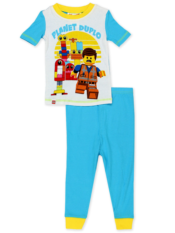 Lego Movie 2 The Second Part Toddler Boys 2fer 4-Piece Short Sleeve Cotton Pajamas Set