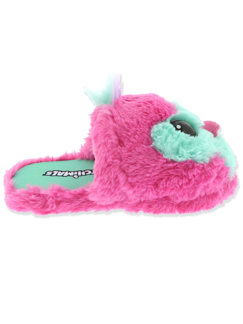 Hatchimals Pengualas Girls Plush Scuff Slippers