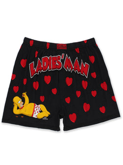 The Simpsons Homer Ladies Man Men's Briefly Stated Boxer Shorts Underwear
