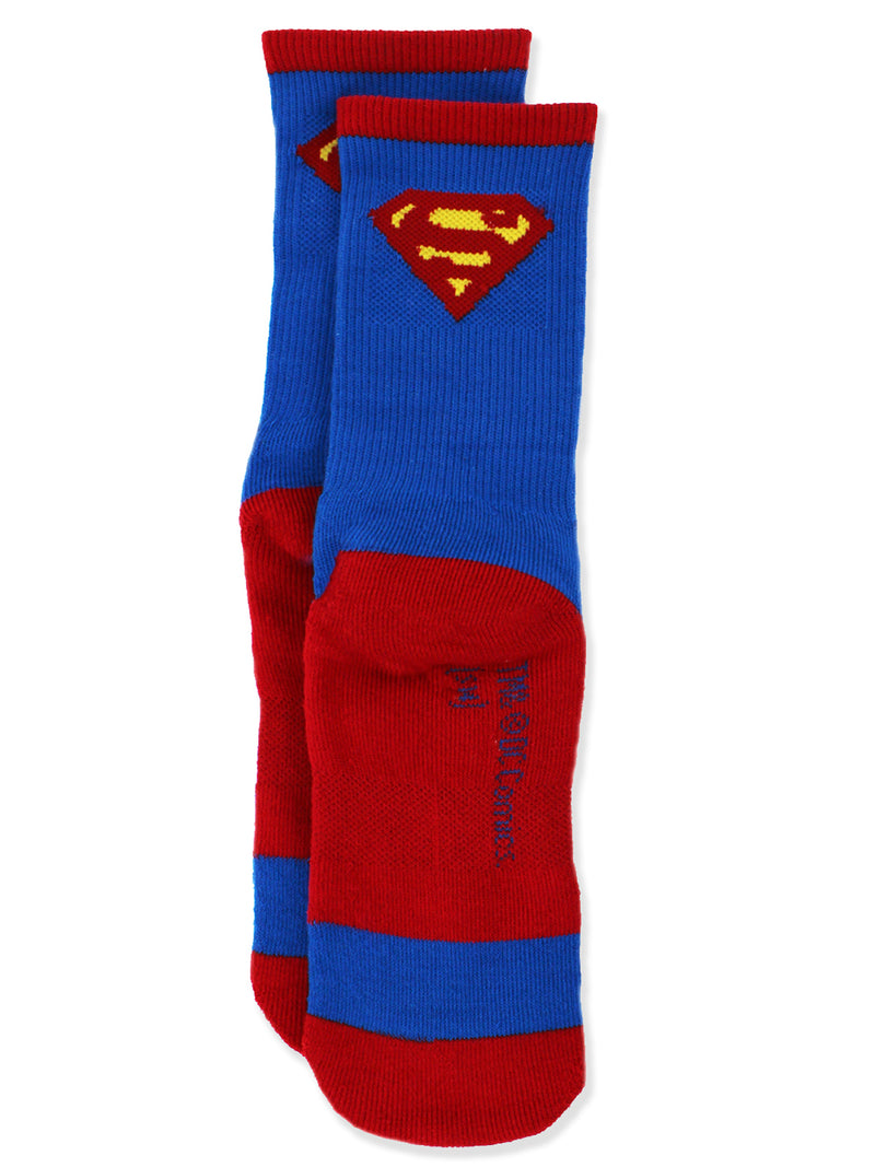 Superman Teens Adults 2 pack Athletic Socks Set