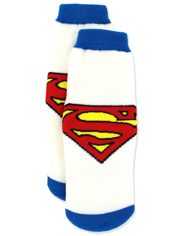 Superman Boys Toddler Slipper Socks